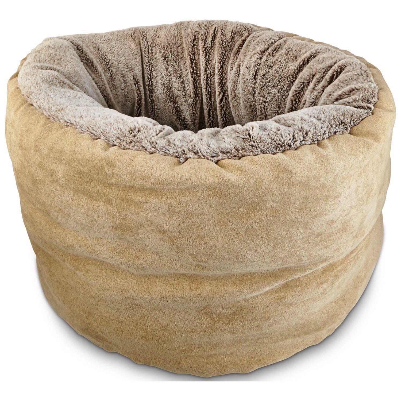"petco deep restful cuddler cat bed in brown - 16""; diameter, this"