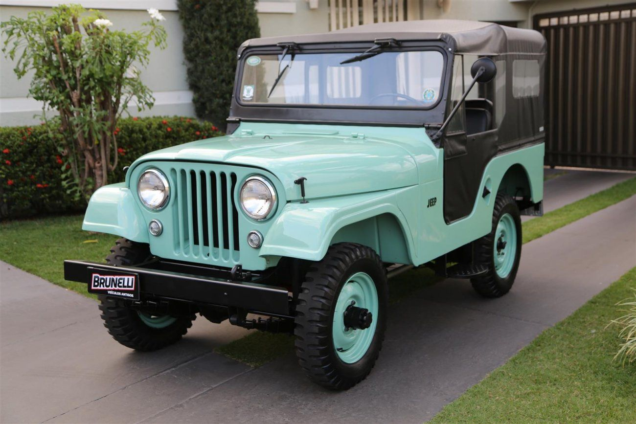 Jeep Willys Cj 5 4x4 1959 Subia Ate Em Parede Jeep Willys Jeep 4x4