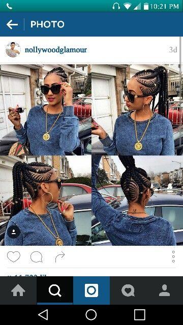 Braids african beads