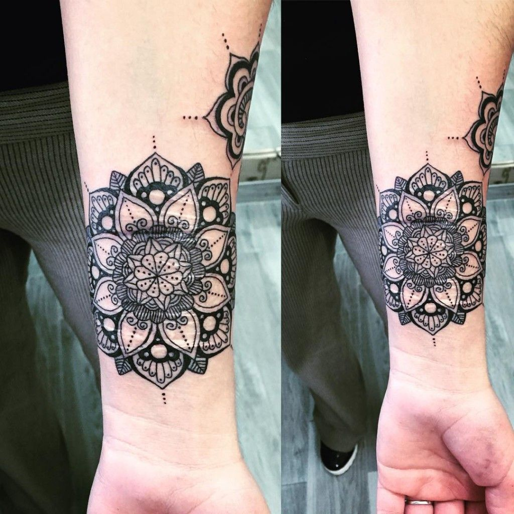 Image result for mandala cover up wrist tattoo tattoo pinterest