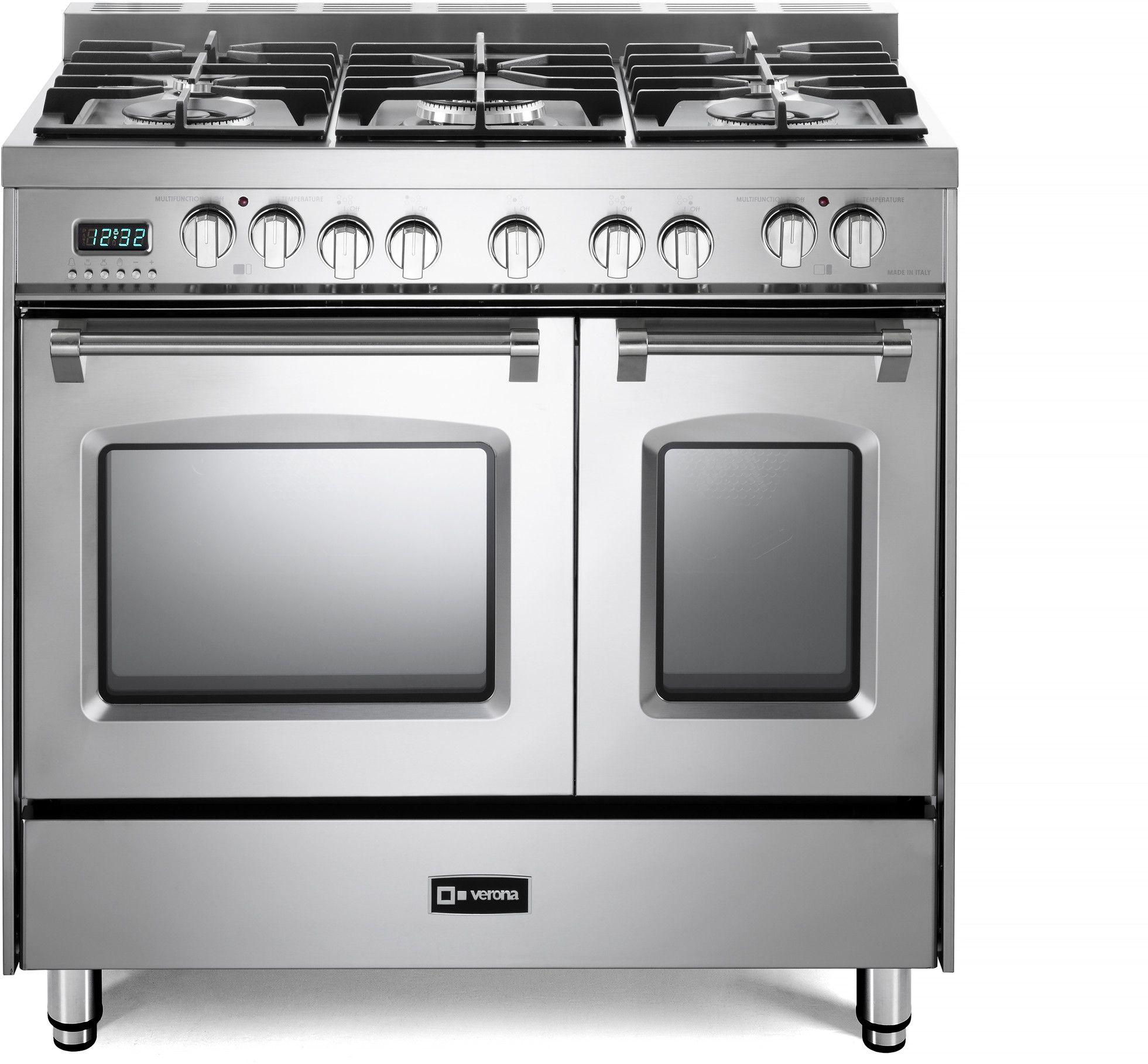 Verona Prestige Series Vpfsge365dss In 2020 Stainless Steel Oven Double Oven Range Gas Oven