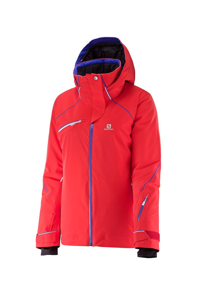 The technical, active fitting 2017 Salomon Women's Speed Insulated Ski  Jacket has a clean,