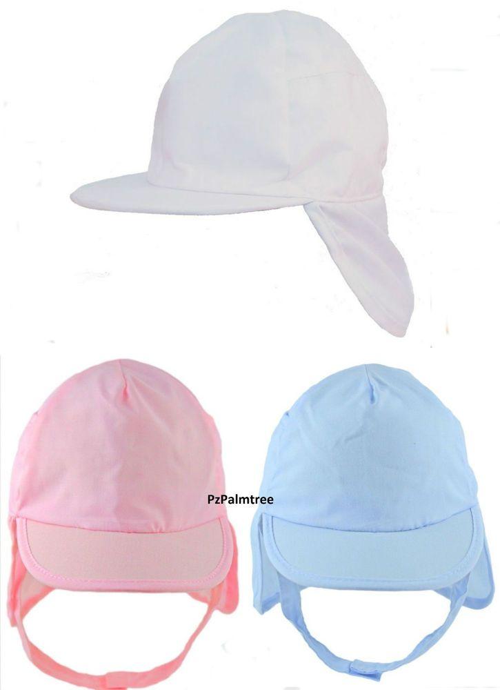 Baby Sun Hat Legionnaire Cap 9 12 18 24m Boy Girl Toddler Neck Flap Chin  Strap 9807491fec6