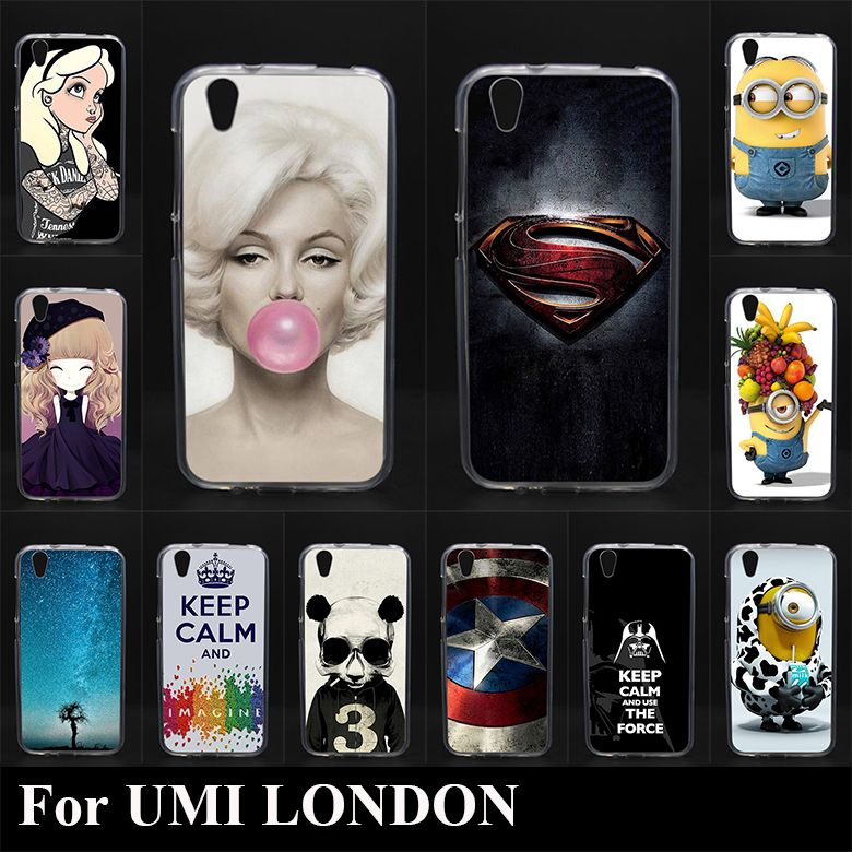 Umi 런던 고품질 transpatent 부드러운 실리콘 tpu 컬러 페인트 case 휴대 전화 커버 case