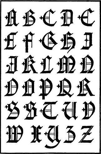 Graffiti Fonts Gothic Style 323x493 Pixels