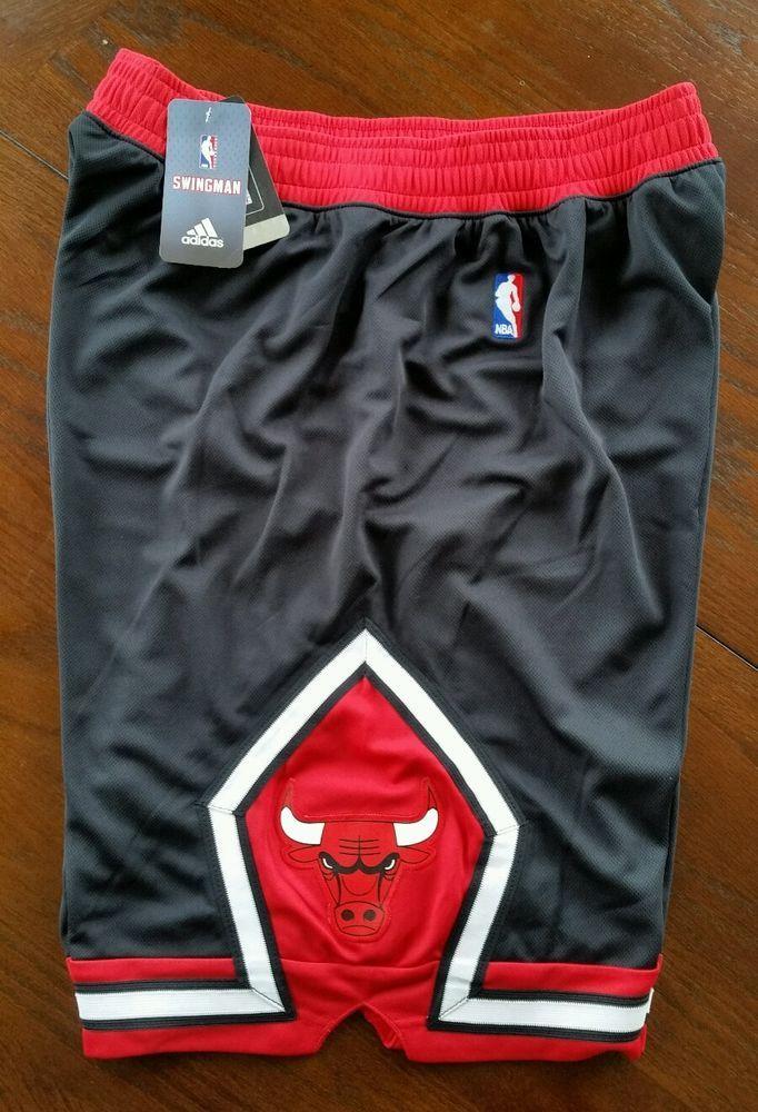 New Mens NBA Chicago Bulls adidas swingman Black shorts Small FREE SHIPPING   adidas  ChicagoBulls 1c295eee3