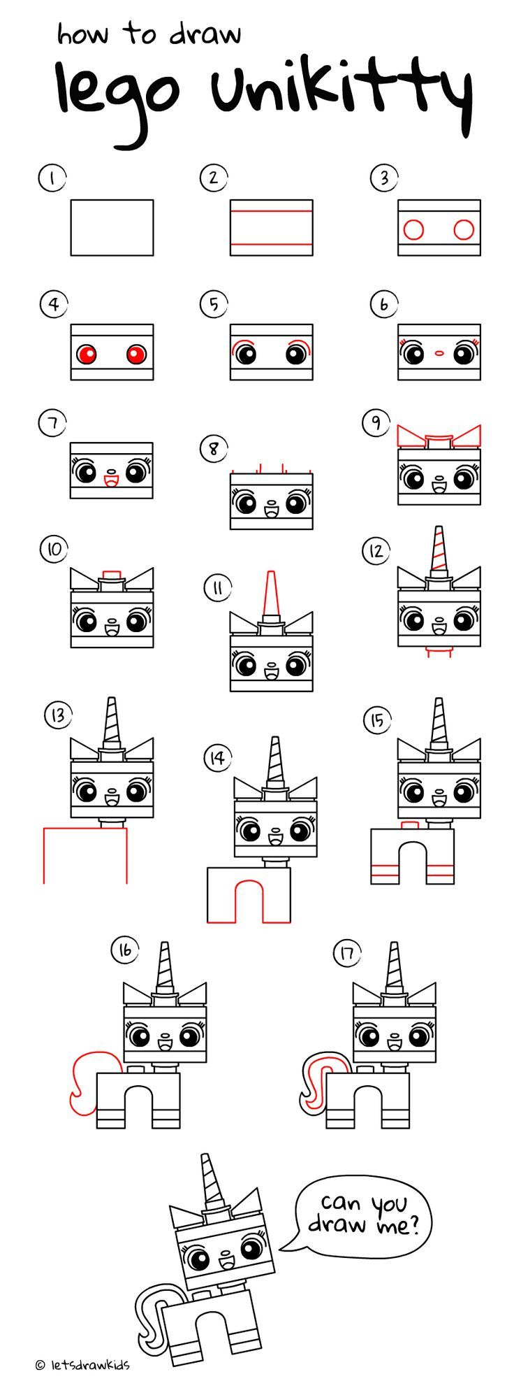 How to draw lego unikitty easy drawing step by step perfect for how to draw lego unikitty easy drawing step by step perfect for kids lets draw kids httpletsdrawkids thecheapjerseys Images