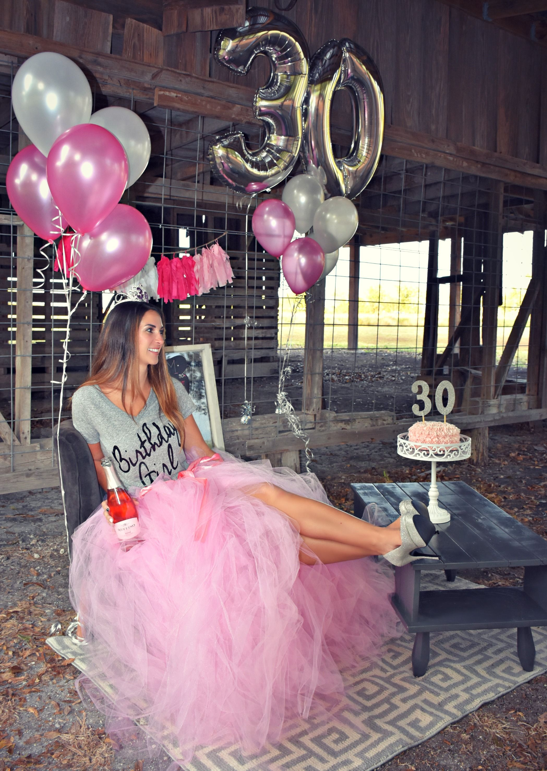 30th Smash Cake & Champagne Pretty in Pink, Happy Birthday www ...