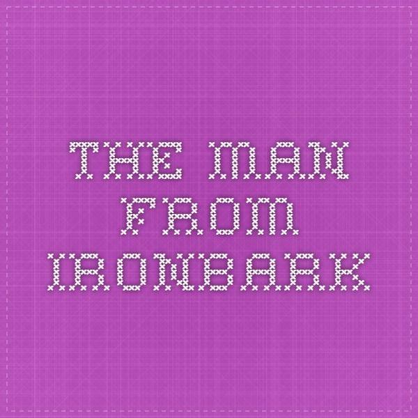 the man from ironbark song
