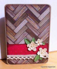 MyPixieRose: Rustikt kort med blomster