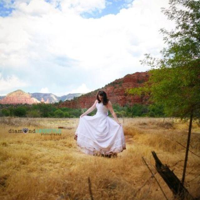 Trash the dress Sedona, Arizona