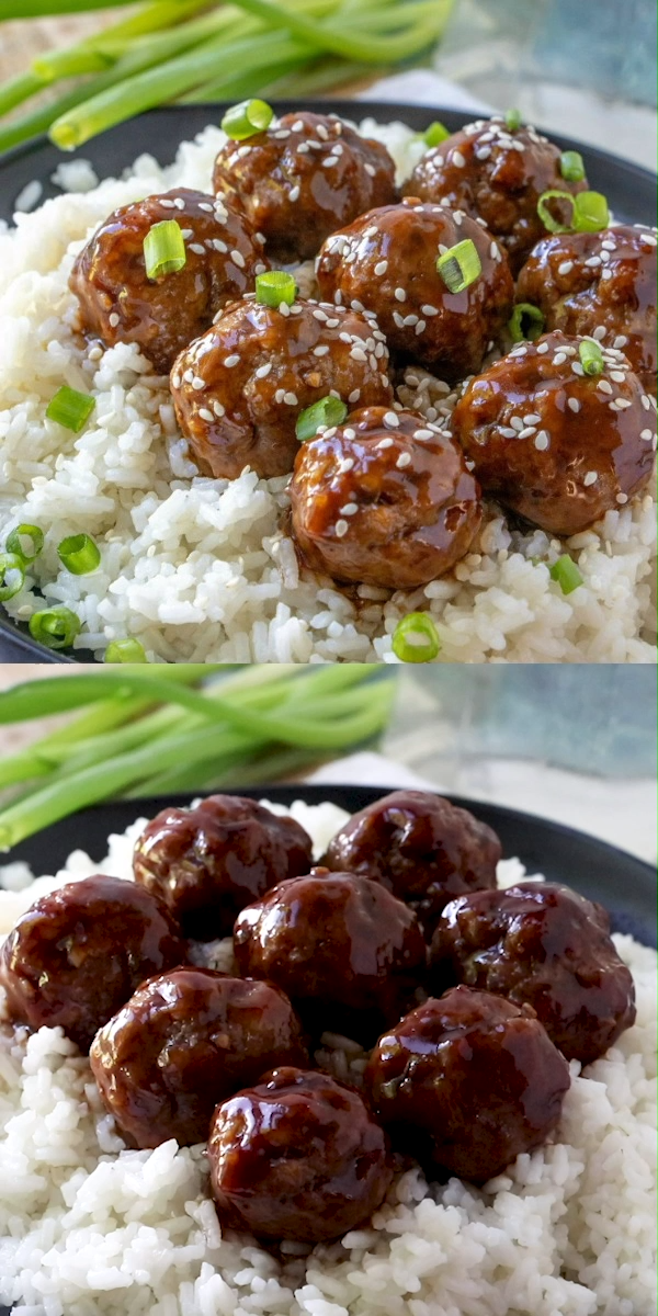 Sticky Asian Glazed Meatballs