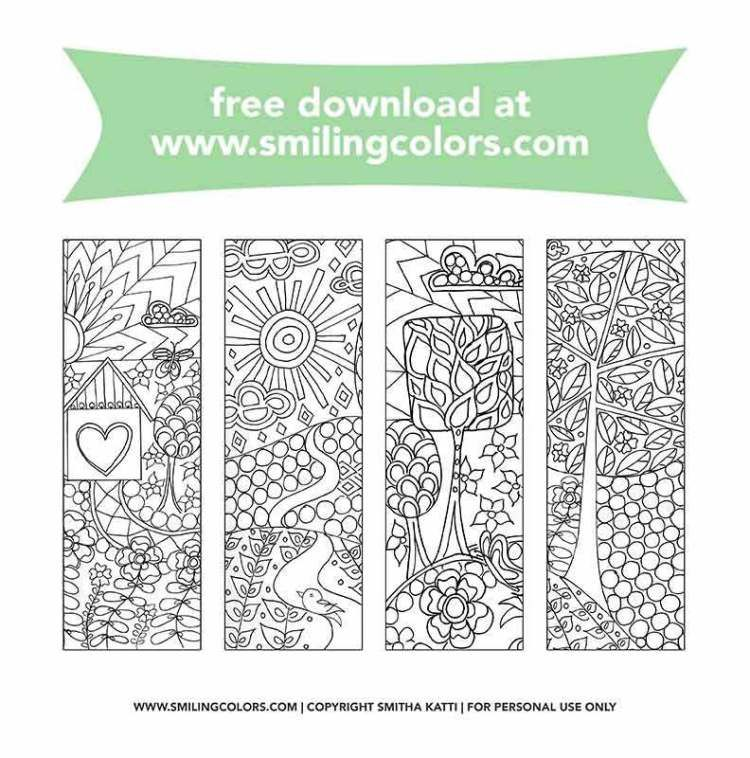 Bookmarks To Color That You Can Download And Enjoy Now Smiling Colors Free Printable Bookmarks Coloring Bookmarks Coloring Bookmarks Free