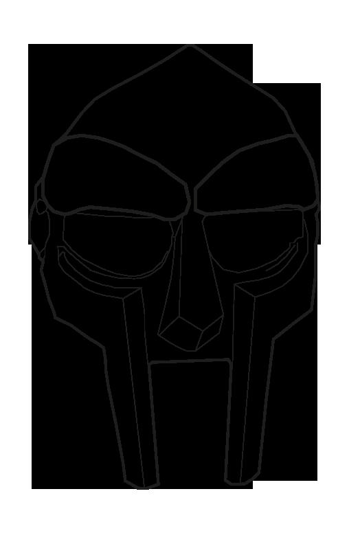 Transparent Doom Mask 2 Transparent Mfdoom Stonesthrow Hiphop Metalfigners Metalface Ill Mf Doom Mask Mf Doom Hand Sketch