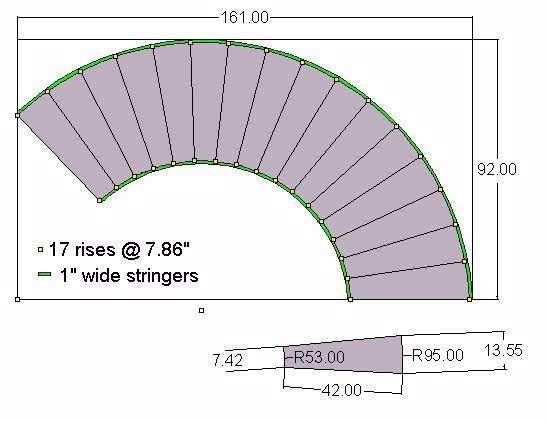Curved Stair Blueprints Stairs Pinned By Www Modlar Com Curved Staircase Spiral Staircase Circular Stairs