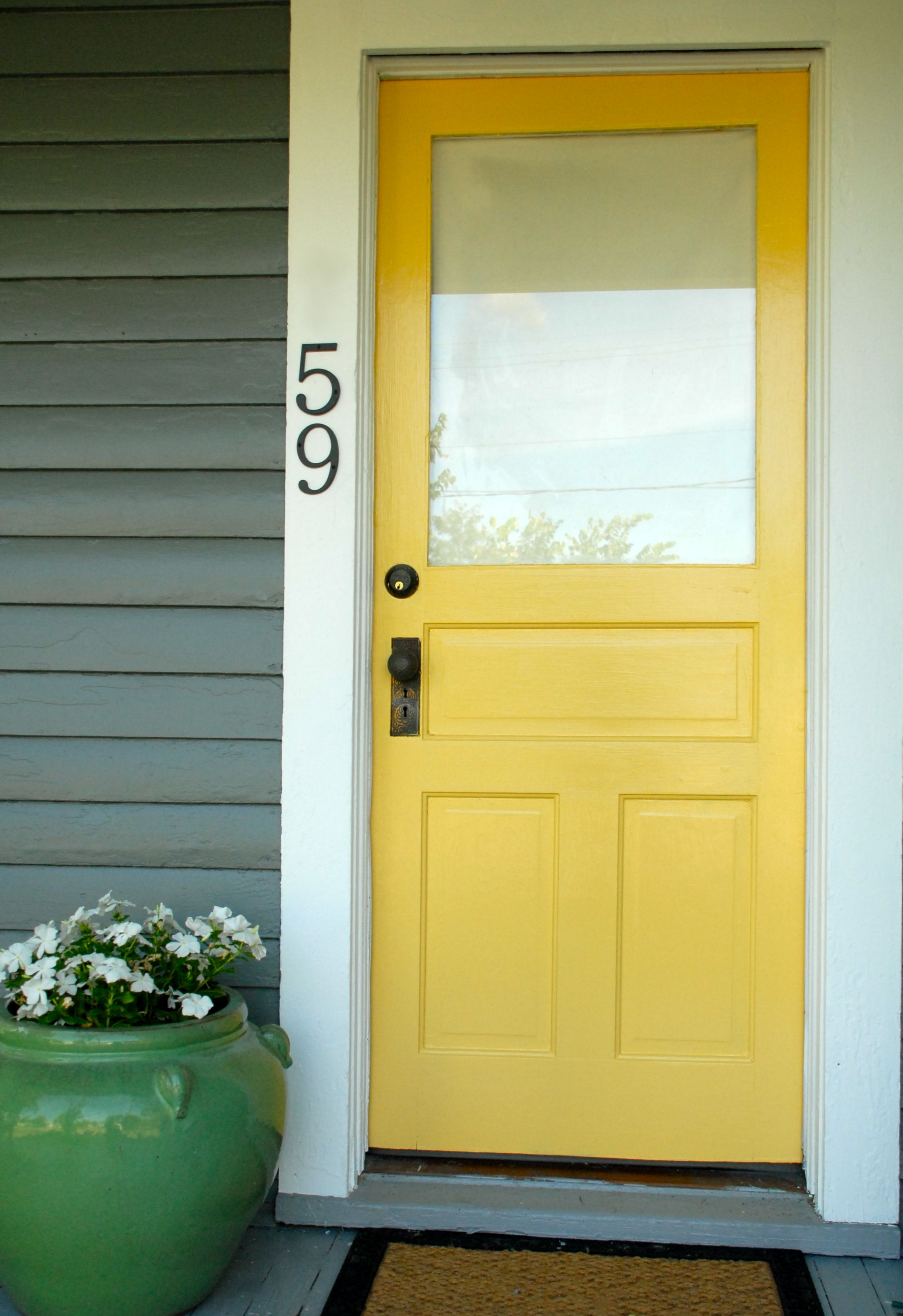 front door paint colors 2Spotted Valspar paint in Eddie Bauer Daffodil EB132 We can
