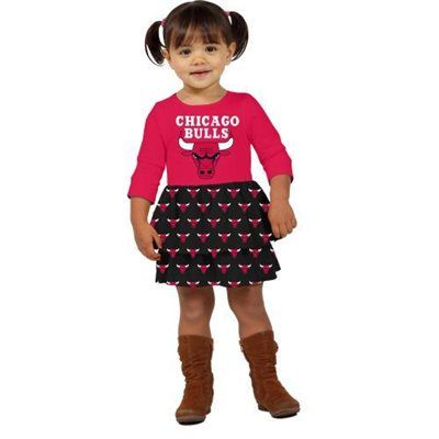 Klutch Chicago Bulls Toddler Girls Layered Dream Dress  klutch  nba   college  tailgate  apparel  mercandise  official  licensed  female   femaleapparel ... e460838dba