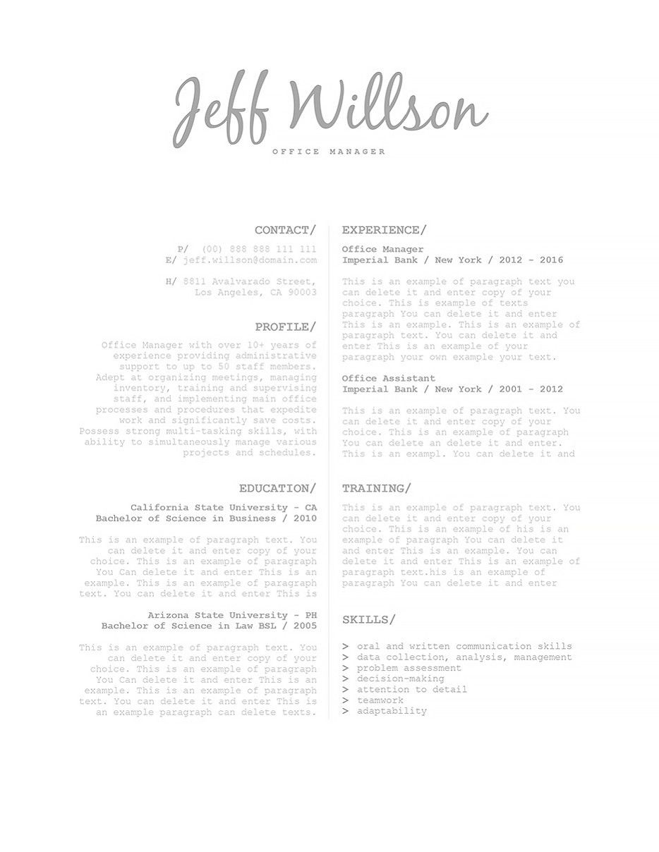 Resume Template 120120 Resume templates, Resume examples