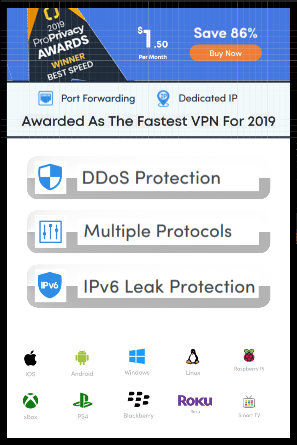 1th Place VPN Provider. Can be used on Smartphone, Desktop