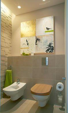Fliesen Boden Und Wand Gleich Nur Halbhoch Ruhe Und Kontrast - Bad fliesen boden und wand gleich