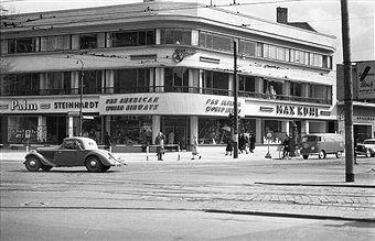 Berlin 1951 Kurfuerstendamm Ecke Joachimstalerstrasse