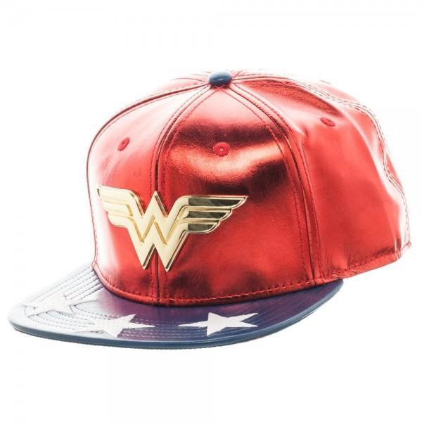 fb217f430e4 Channel your inner Diana Prince in this DC Comics Wonder Woman PU Suit Up Snapback  cap.