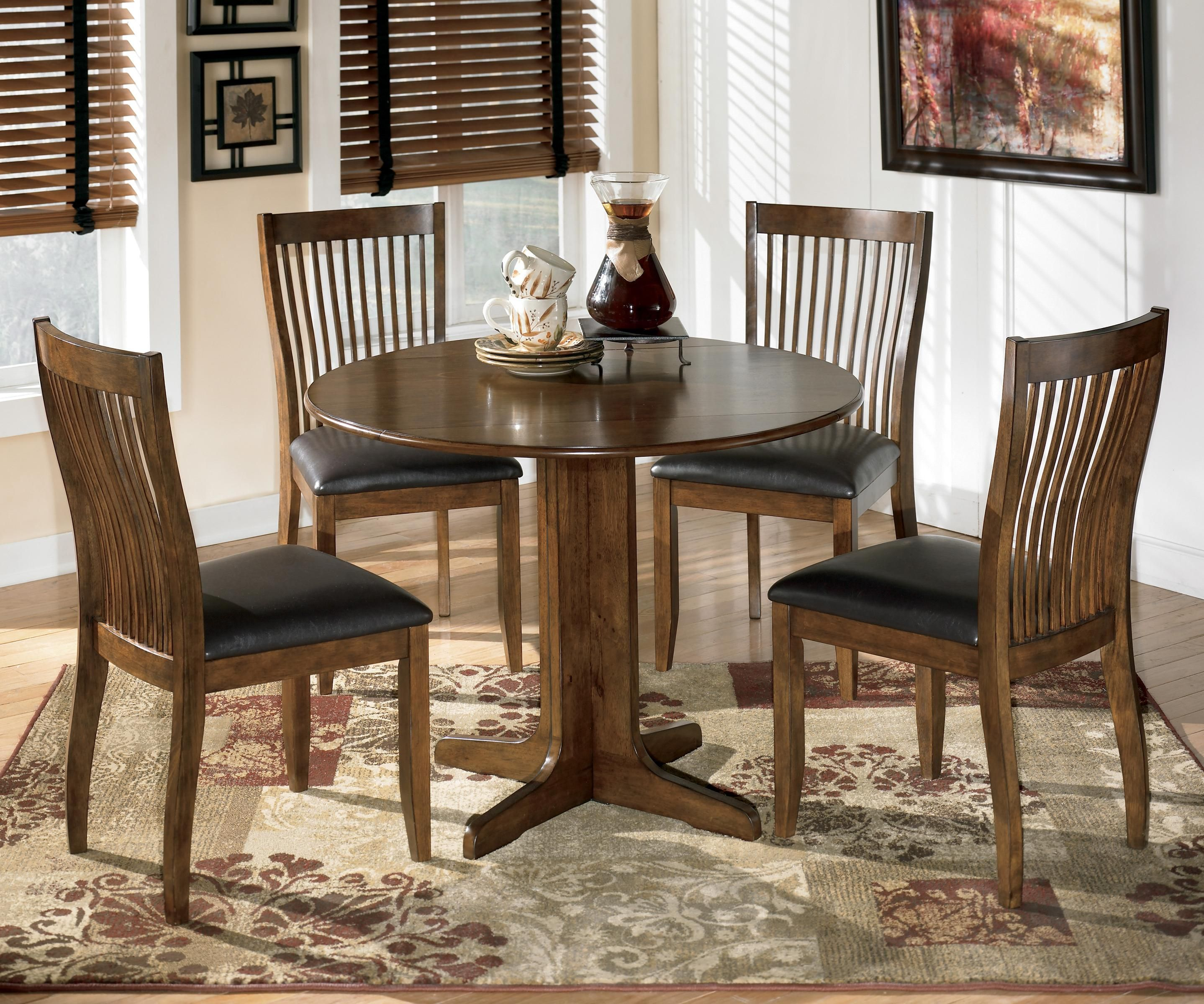 5 Piece Round Drop Leaf Table Set Springwell Pinterest