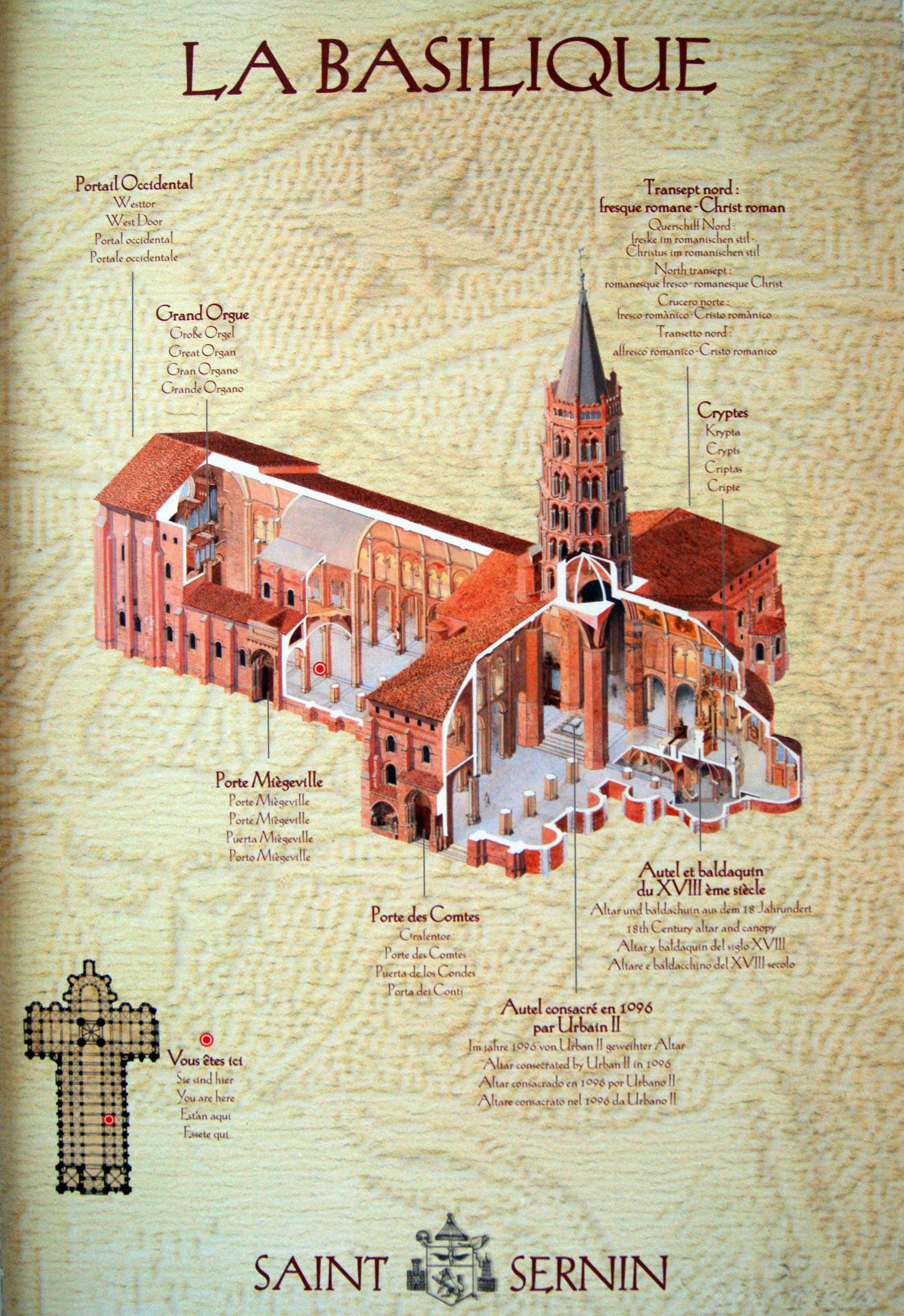 Landmark Basilica St Sernin in Toulouse. #Romanesque ...