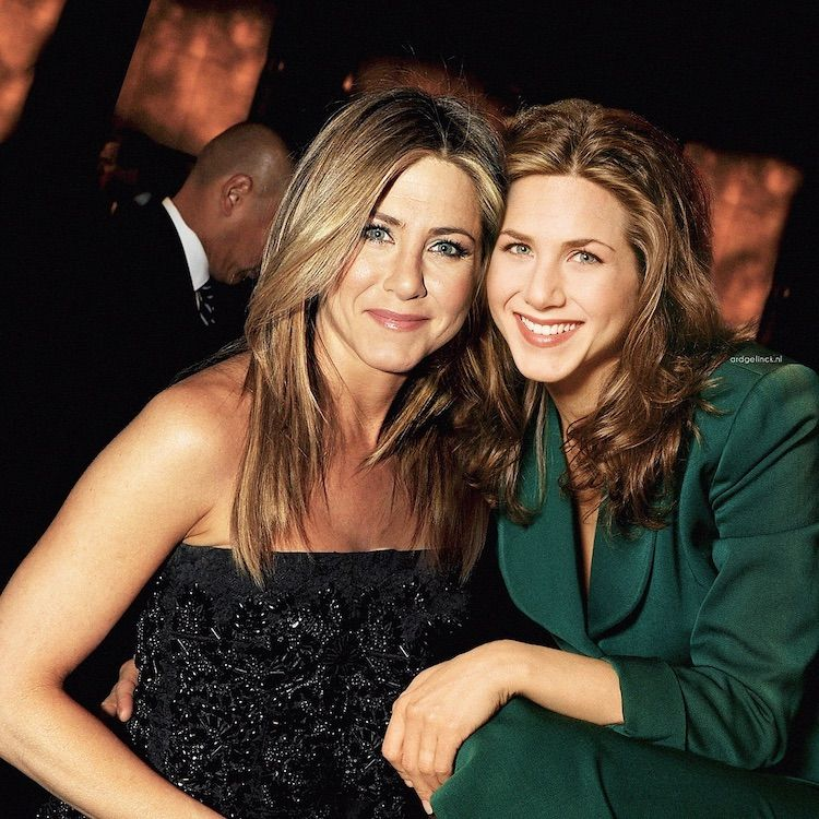 25+ Photos of Celebrities Posing with Their Younger Selves