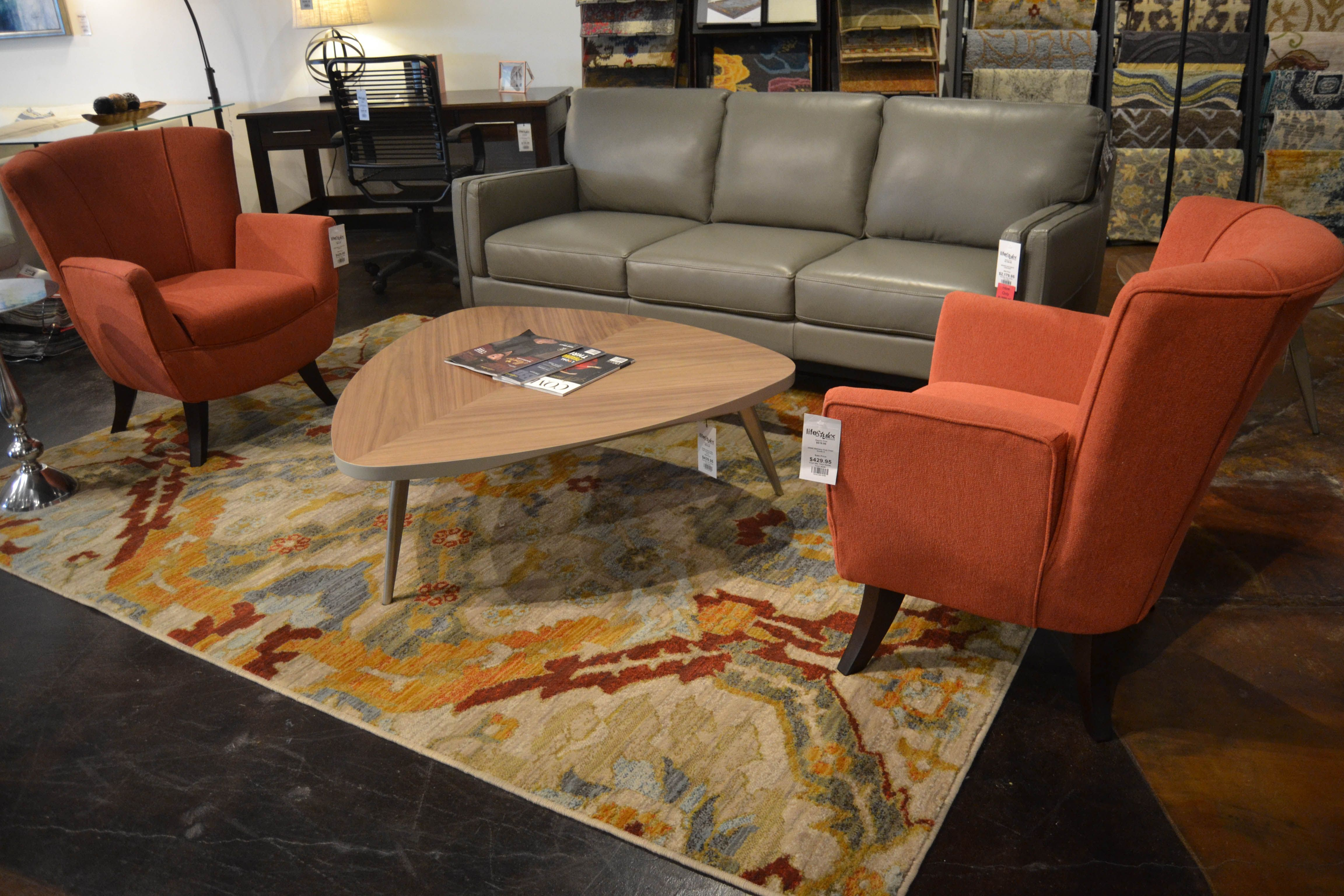 Gray Leather Sofa Orange Accent Chairs Www Lifestylescomo Com