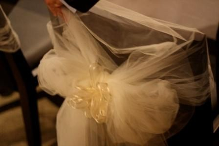 How to make cheap wedding chair covers and pew decorations