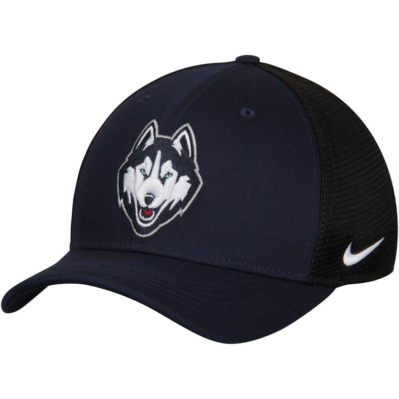 3a3458b8a6a UConn Huskies Nike AeroBill Classic 99 Mesh Back Flex Hat - Navy Black