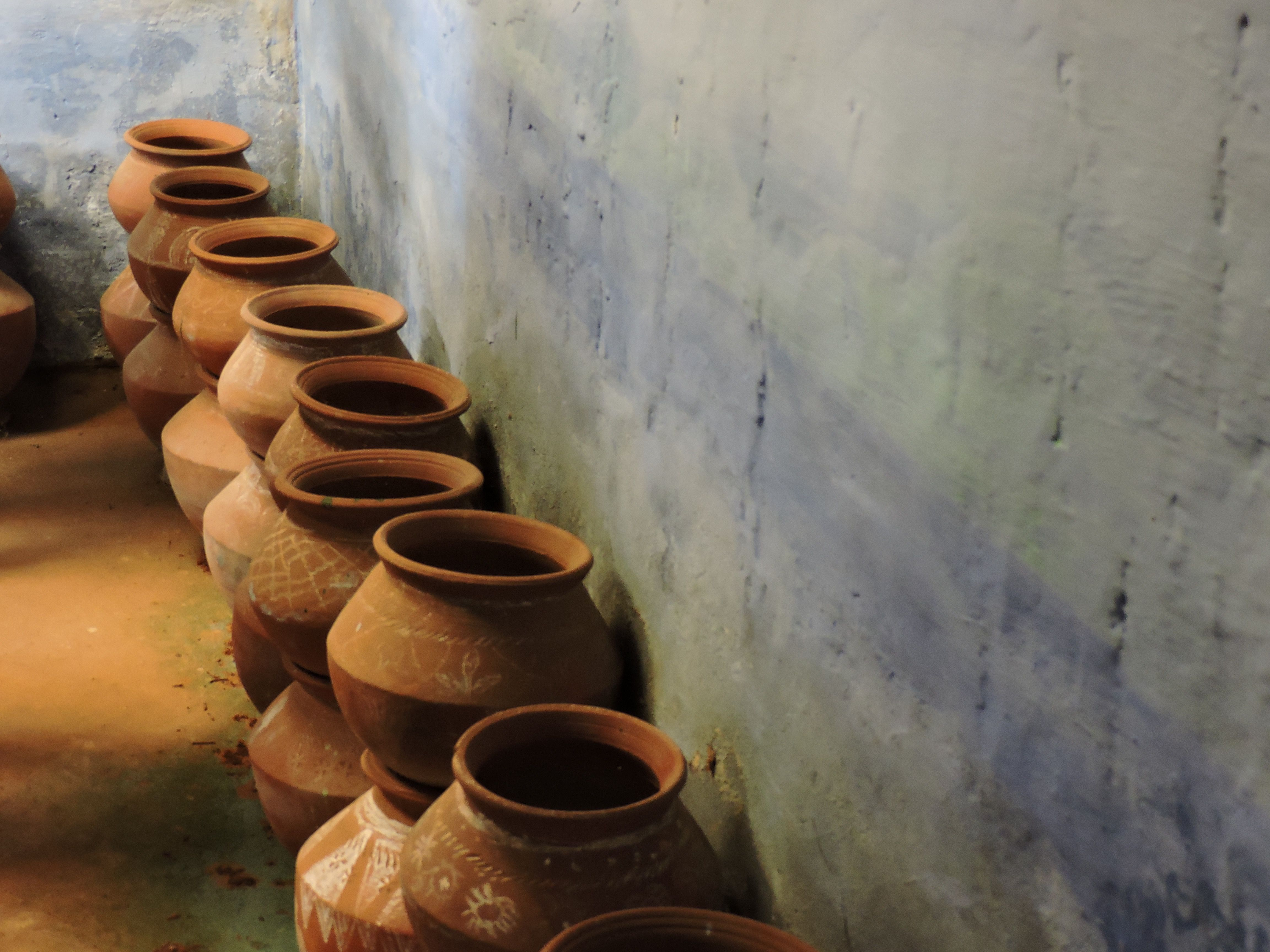 Clay Jars In A Community Seed Bank - India Photography