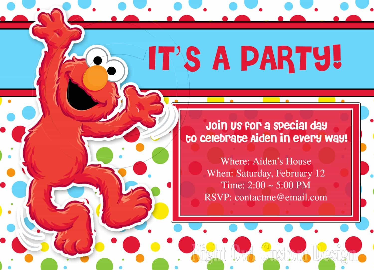 Nice Create Easy Elmo Birthday Invitations Check More At Egreeting