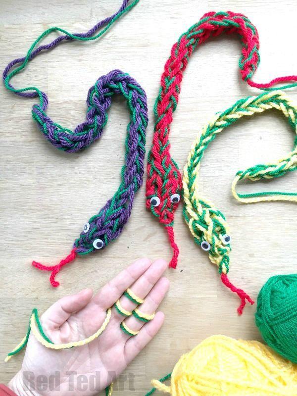 Finger Knitting Snakes Want Need Love Finger