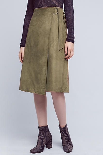 Ariana Vegan Leather Wrap Skirt