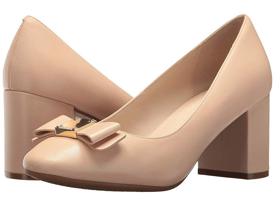 c691fcbb5 Cole Haan Tali Bow Pump (Nude Leather) Women's Shoes. From desk to date