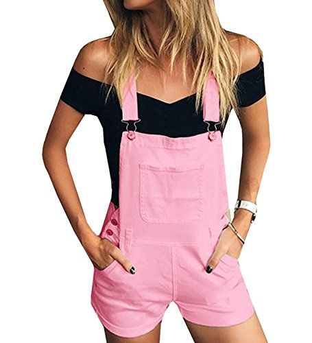 b7eab6a77f4a Women s Short Pockets Jumpsuits Inorin Bib Romper Overalls Shortalls For  Summer