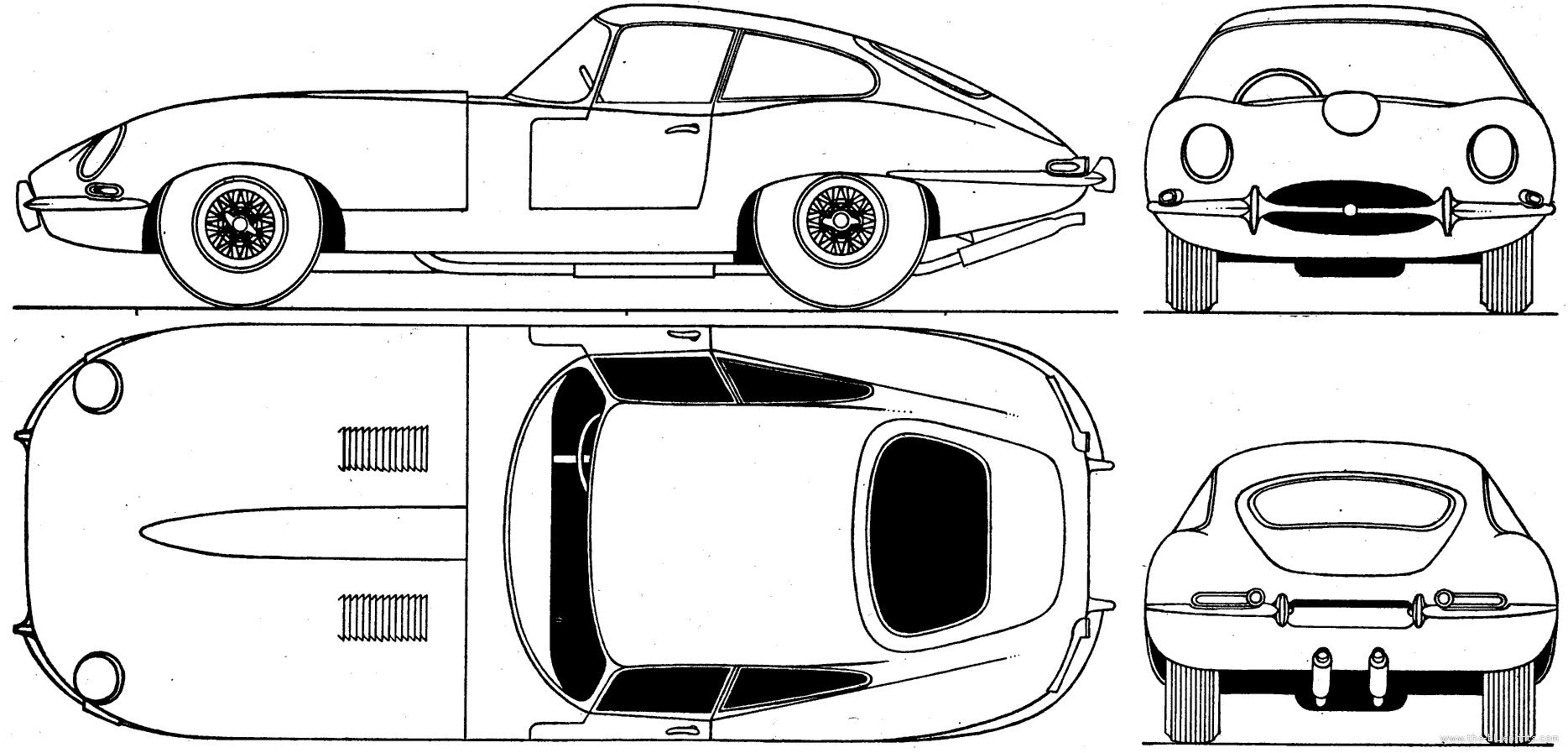 Jaguar Car Drawing Jaguar E Type S1 Coupe