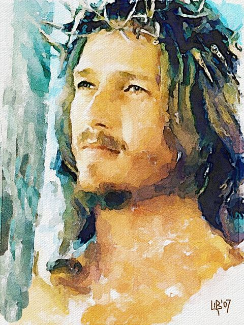 043 Ted Neeley Jesus Painting Jesus Art Christian Art