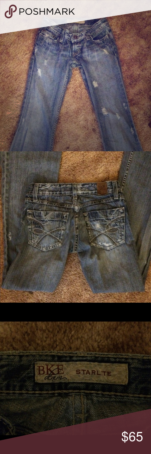 BKE Buckle Jeans Size 24x33 1/2 NWOT extremely comfy jeans! I bought two of the same that's why I'm letting one pair go Buckle Pants Boot Cut & Flare