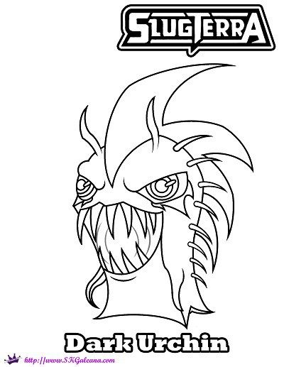 free halloween coloring page featuring dark urchin from slugterra halloween coloring dark and free