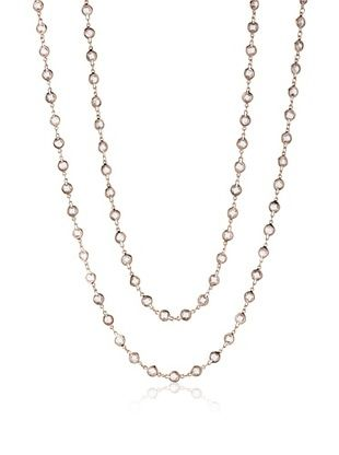 65% OFF CZ by Kenneth Jay Lane Rose Gold Diamonds by the Yard CZ Necklace