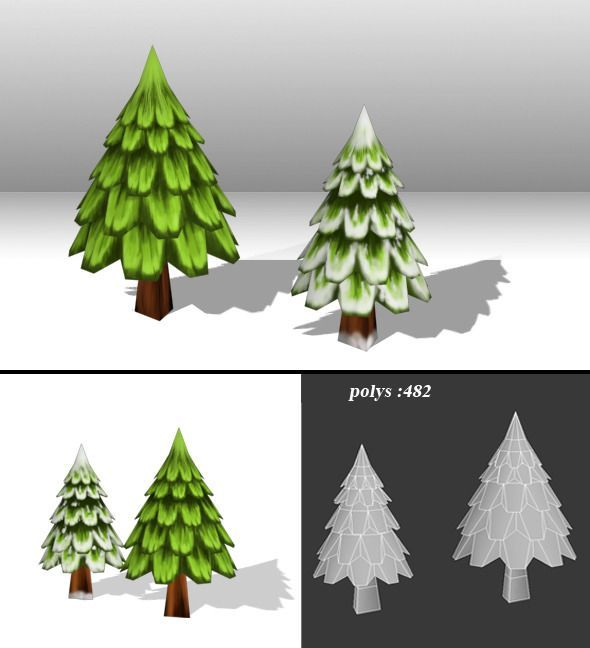 vegetation 3d tree tree art polygon modeling low poly games low poly - Polytree Christmas Tree