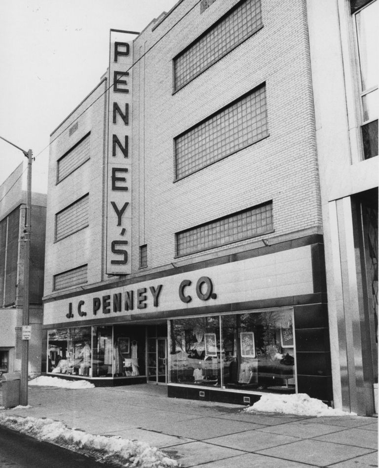 Peek Through Time J C Penney Co Joined Lengthy List Of Downtown Jackson Department Stores In 1940 Jackson Michigan Pictures Of America Vintage Michigan