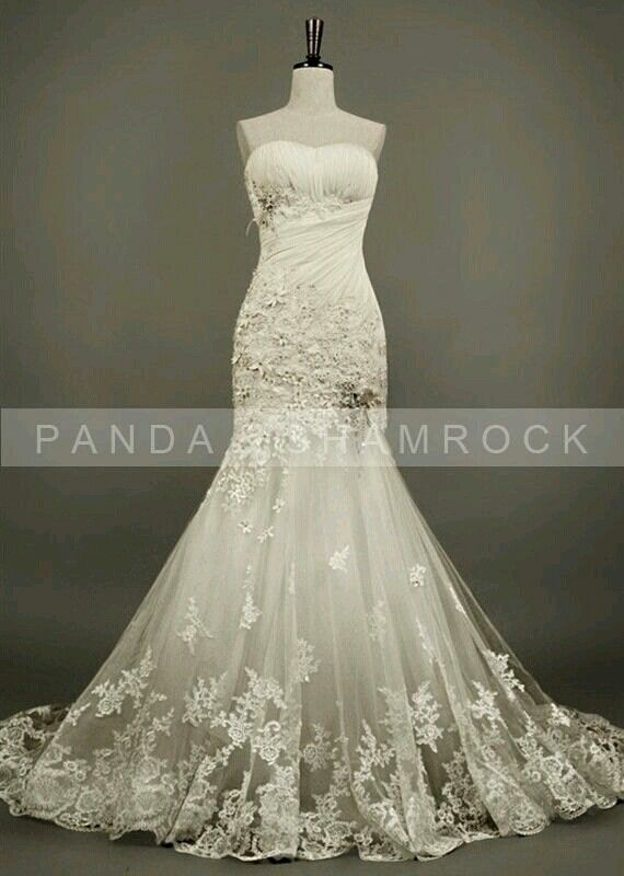 Halloween Lace Wedding Dress