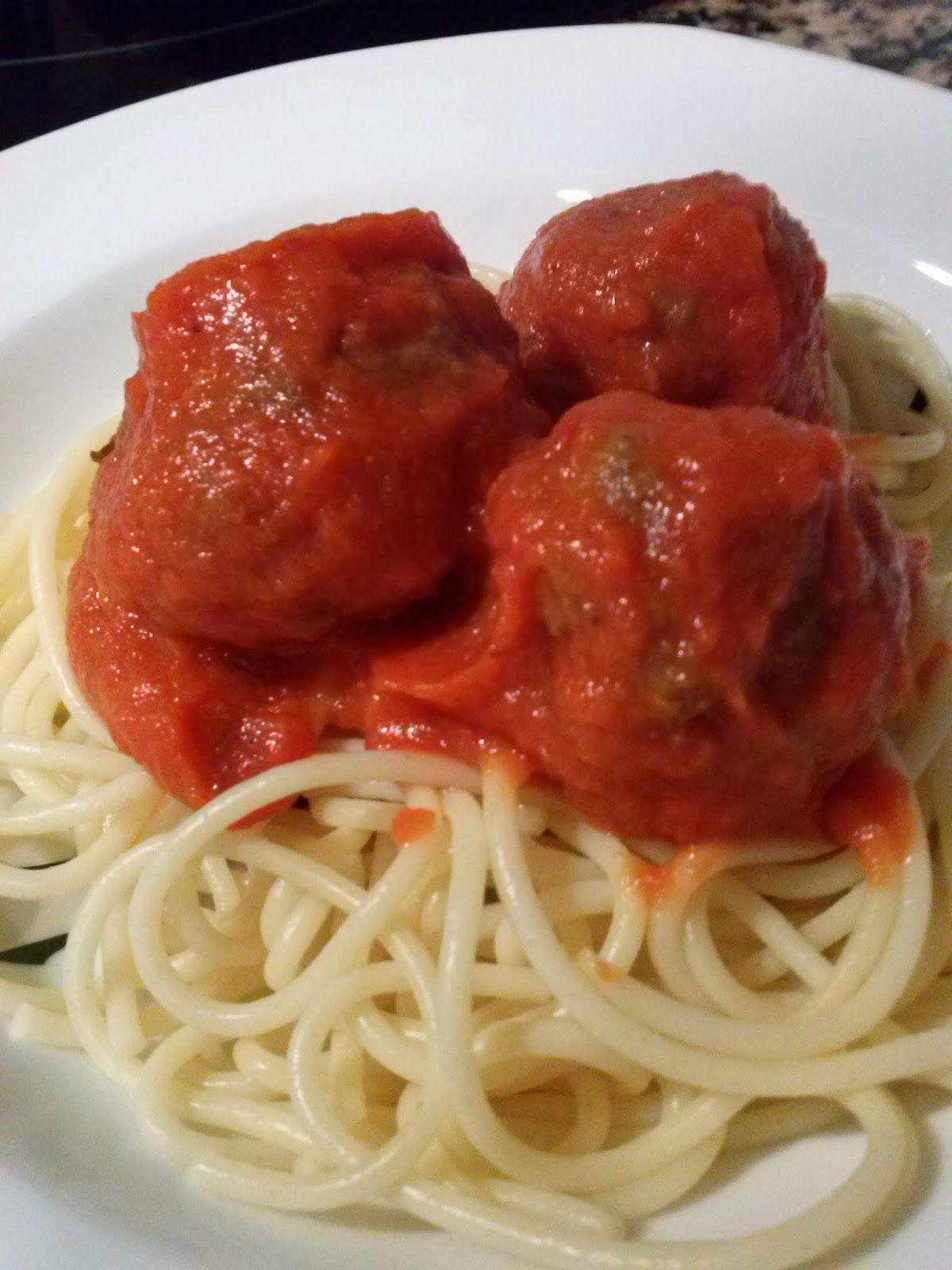AVIRECETAS ¿Qué cocino hoy?: Albóndigas con espaguetis