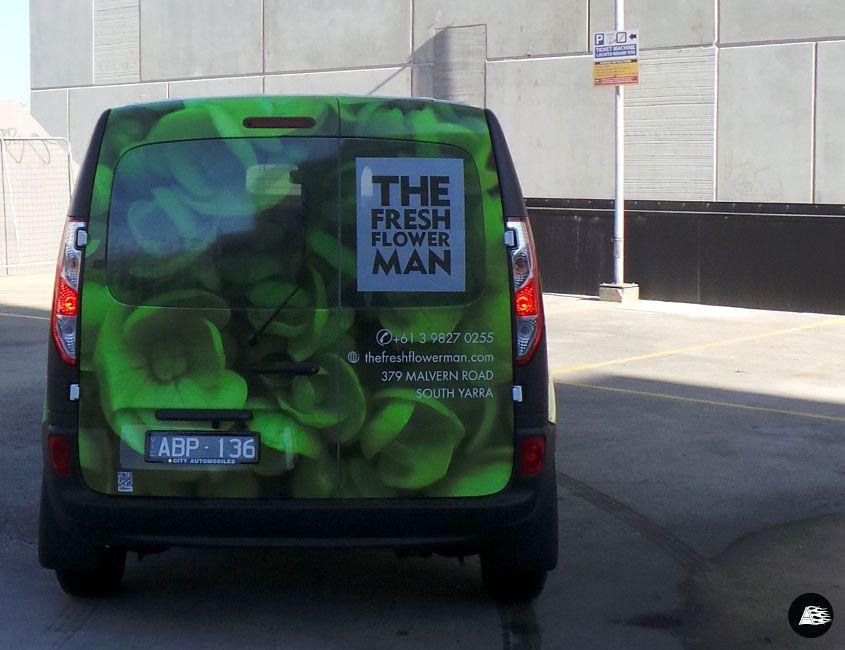 The Fresh Flower Man Renault Kangoo Van Wrap Vehicle Graphics Florist Delivery Van R E A