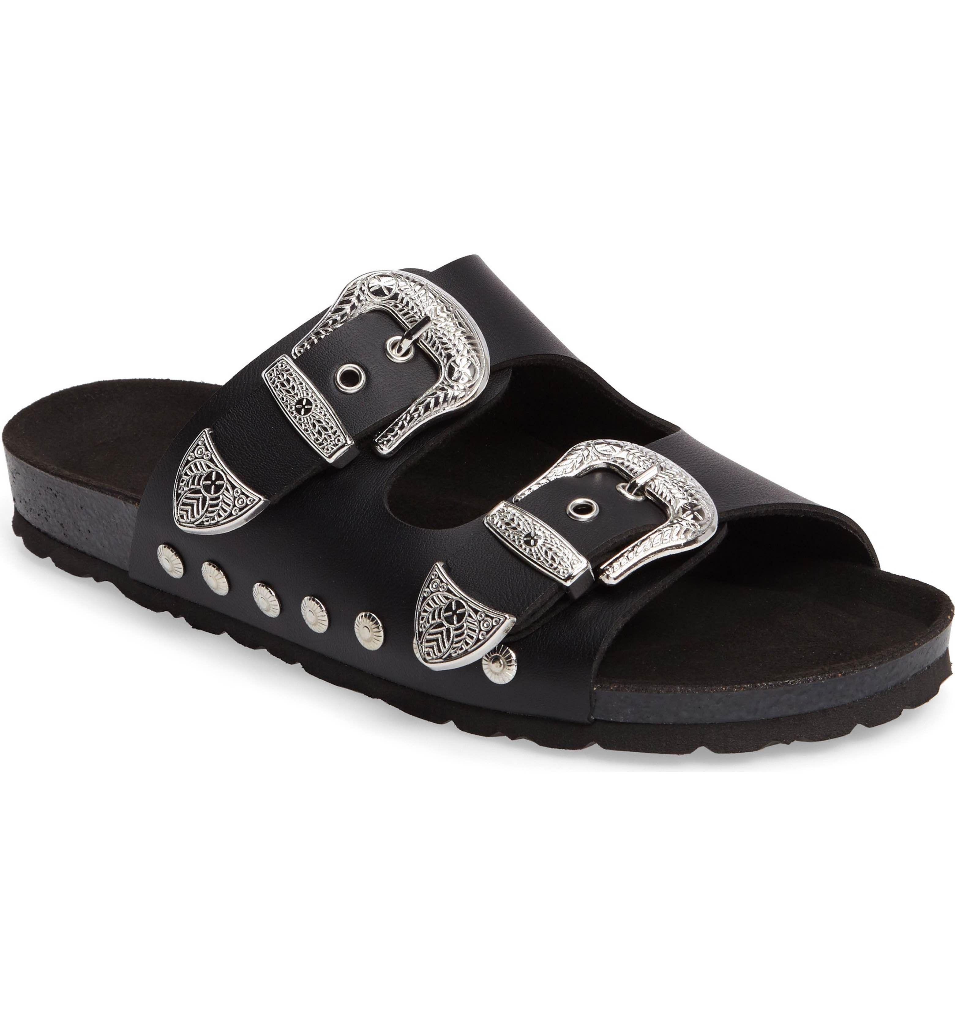 Black jelly sandals topshop - Topshop Studded Slide Sandal Women