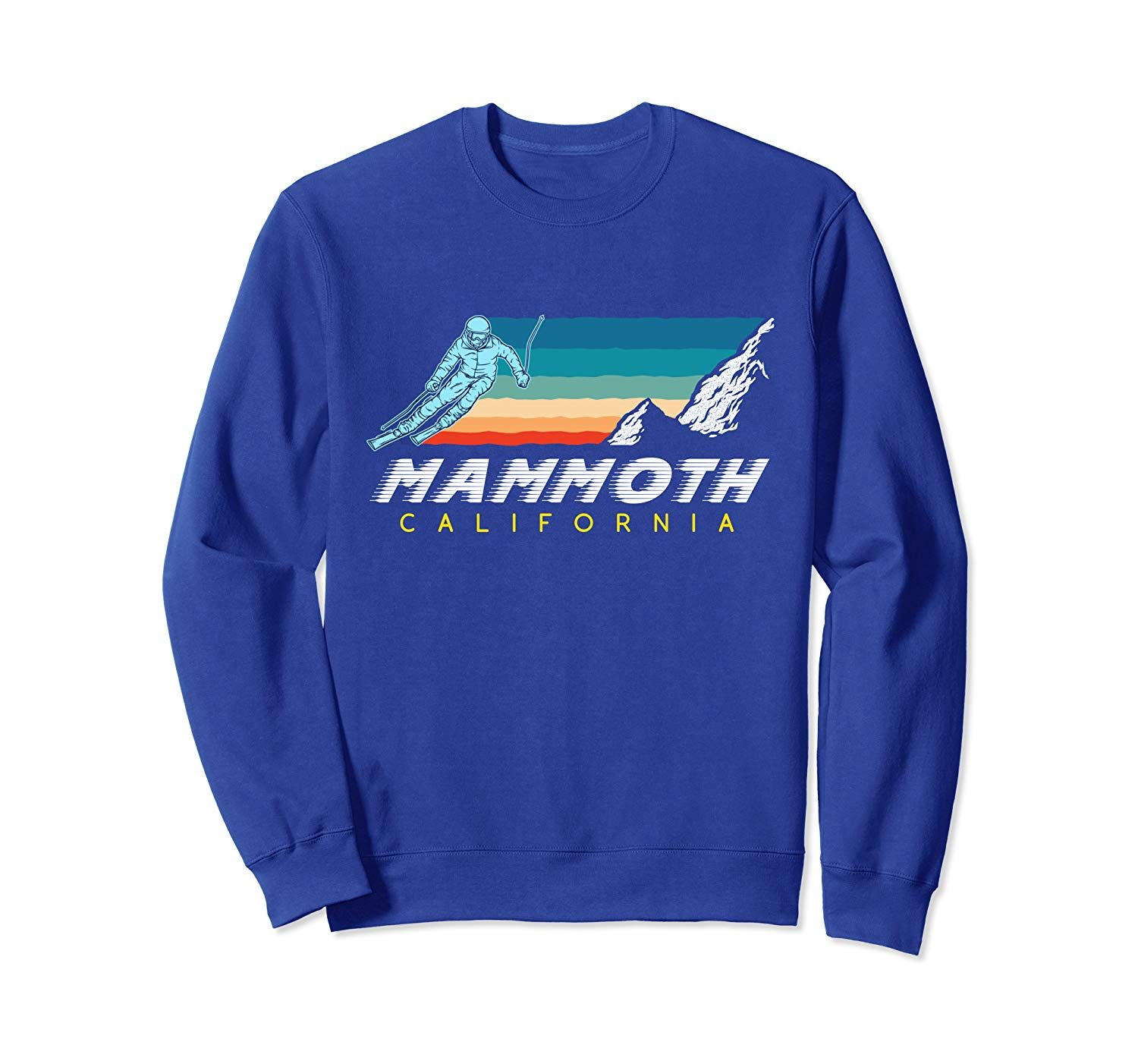 Mammoth California - USA Ski Resort 1980s Retro Sweatshirt #utahusa
